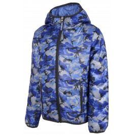 ALPINE PRO Chlapecká maskáčová bunda Almo - modrá