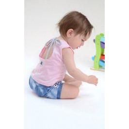 Lamama Dívčí top na zavazování - růžový