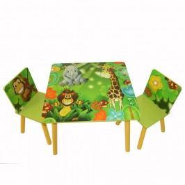 Homestyle4U Dětský stůl s židlemi Jungle