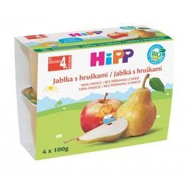HiPP BIO Jablka s hruškami 4x100g