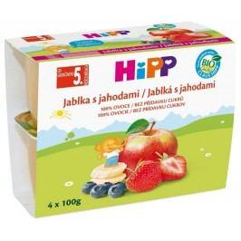 HiPP BIO Jablka s jahodami  4x100g
