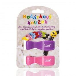 T-tomi Kočárkový kolíček, 2ks, růžová + fialová