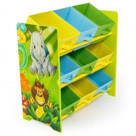 Homestyle4U Dětský organizér na hračky Jungle