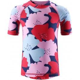Reima Dívčí plavecké triko Fiji s UV ochranou 50+ - červená
