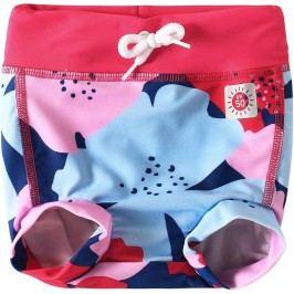 Reima Dívčí plavecké šortky s plenkou Belize s UV ochranou 50+ - růžové s květy