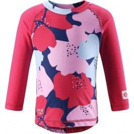 Reima Dívčí plavecké triko Borneo s UV ochranou 50+ - růžové