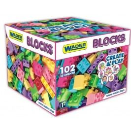 WADER Kostky stavebnice pro holky plast 102 ks