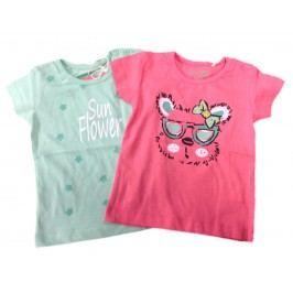Carodel Dívčí set 2 ks triček - barevný