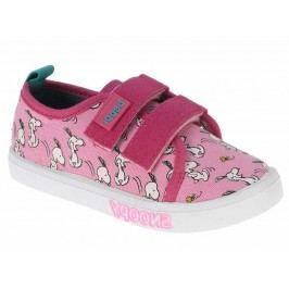 Beppi Dívčí plátěné tenisky Snoopy - růžové