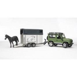Bruder Land Rover s přívěsem pro přepravu koní včetně 1 koně 1.16