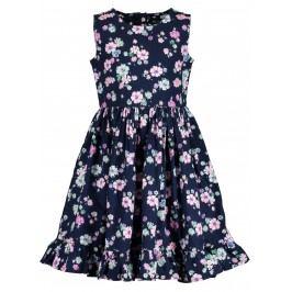Blue Seven Dívčí květované šaty  - tmavě modré