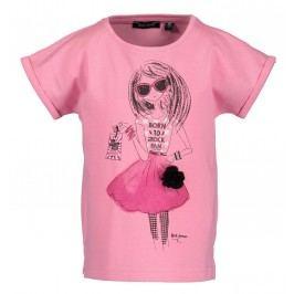 Blue Seven Dívčí tričko s holkou - růžové