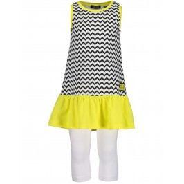 Blue Seven Dívčí set šaty + legíny cik cak - barevné
