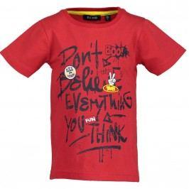 Blue Seven Chlapecké tričko s nápisem - červené