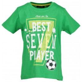 Blue Seven Chlapeckék tričko Fotbal - zelené
