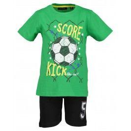 Blue Seven Chlapecká set trička a kraťasů Fotbal - zeleno-černý