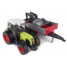 Bruder Farmer - traktor Claas Nectis s předním nakladačem a přívěsem