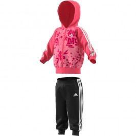 adidas Dívčí tepláková souprava - růžová