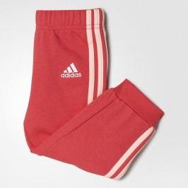 adidas Dívčí tepláky - červené