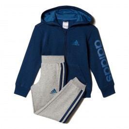 adidas Chlapecká tepláková souprava - modro-šedá