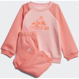 adidas Dívčí tepláková souprava - oranžová