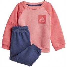 adidas Dívčí tepláková souprava - oranžovo-modrá