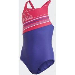 adidas Dívčí jednodílné plavky - modro-oranžové