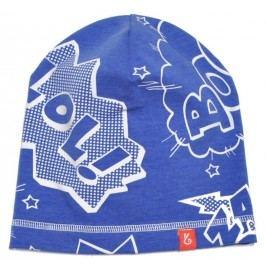 Bexa Chlapecká prodloužená čepice s nápisy Blue - modrá