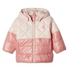 adidas Dívčí prošívaná bunda - růžová