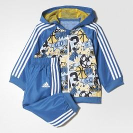 adidas Chlapecká tepláková souprava Hooded Jogger - modrá
