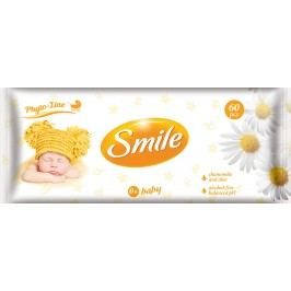 SMILE Vlhčené ubrousky Baby 0+ s výtažkem z heřmánku a aloe vera 60 ks