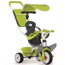 Smoby Tříkolka Baby Balade 2 zelená, stříška, taška