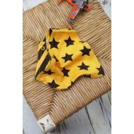 Blade & Rose Dívčí šátek s hvězdičkami a proužky - žluto-černý