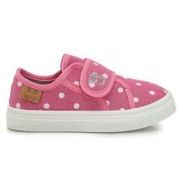D.D.step Dívčí puntíkované tenisky - růžové