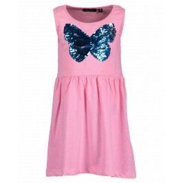 Blue Seven Dívčí šaty s motýlem - růžové