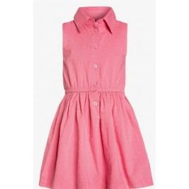 Blue Seven Dívčí šaty s límečkem - růžové