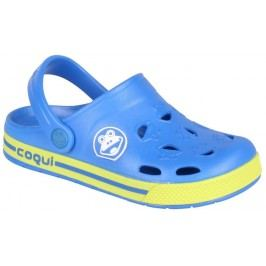 Coqui Chlapecké sandály Froggy - žluto-modré