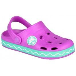 Coqui Dívčí sandály Froggy - mentolovo-fialové