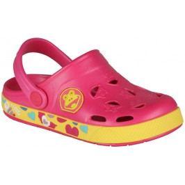 Coqui Dívčí sandály Froggy - růžovo-žluté