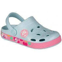 Coqui Dívčí sandály Froggy - růžovo-šedé
