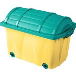 Keeeper Úložný box na kolečkách, 42 l - světle žlutý