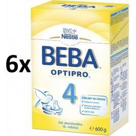 BEBA kojenecké mléko PRO 4, 6x600g