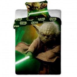 Jerry Fabrics Dětské oboustranné povlečení Star Wars Yoda, 140x200 cm/70x90 cm
