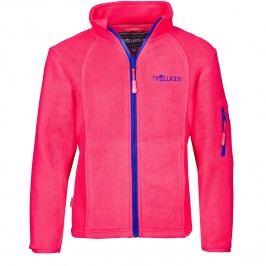 Trollkids Dětská fleecová bunda Arendal - růžová