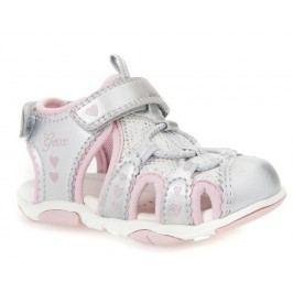 Geox Dívčí sandály Agasim - stříbrno-růžové