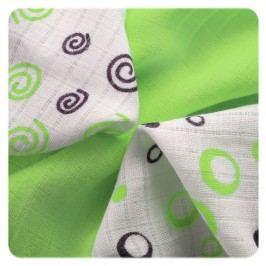 XKKO Bambusové ubrousky Spirals&Bubbles 30x30 cm, 9ks, Lime mix