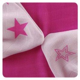 XKKO Bambusové ubrousky Stars 30x30 cm, 9ks, Magenta stars mix