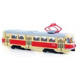 Rappa Unikátní tramvaj plastová s funkčními dveřmi 28 cm