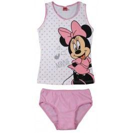 E plus M Dívčí set tílka a kalhotek Minnie - bílo-růžový