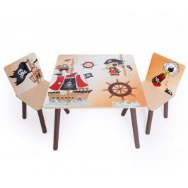 Homestyle4U Dětský stůl s židlemi Pirát